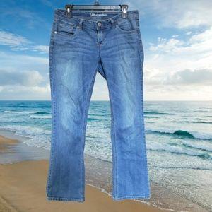 Aeropostale Chelsea Bootcut Jeans, 6 Short